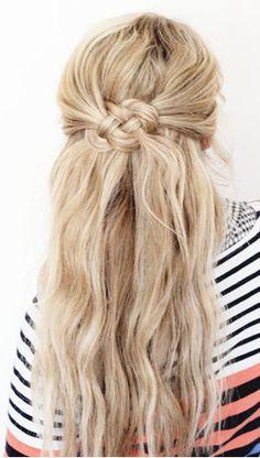wedding hair half updo