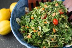 Massaged KALE salad - get Romantic with it, helps take out the bitterness