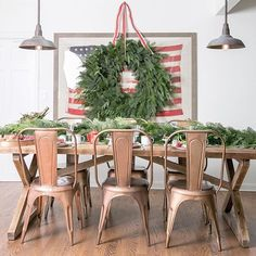 Last year's Christmas brunch  Going to miss this farm table when we move! It's going in storage