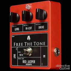Free The Tone RJ-1V Red Jasper Overdrive - Plexi Drive w/ Hi-Cut Orange
