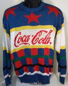 Mens Vintage Coca-Cola Coke Medium Crewneck Sweater 80s #CocaCola #Crewneck
