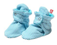 Zutano Newborn Booties Pool Candy Stripe