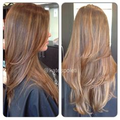 Super haircut for long hair v cut beautiful 17 ideas Long Hair V Cut, V Cut Hair, Long Layered Hair, Hair Cuts, V Cut Long Layers, Sombre Blond, Brown Blonde Hair, Blonde Balayage, Balayage Highlights