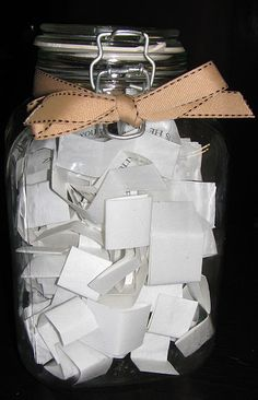 What a great idea for an activity at a grandparent's birthday party! Memories written by family members and friends from over the years! This would be fun to look back on and reminisce about the past!