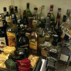 Behind the bar..