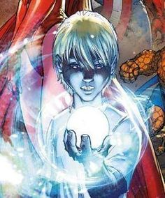 Franklin Richards (Kid) Yes, Reed and Sue of the Fantastic Four's son and also Rachel's lover future husband.