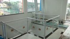 Corrimão E Guarda Corpo Alumínio & Vidro - R$ 299,00 em Mercado Livre