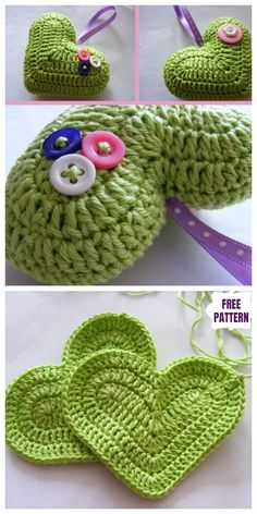 Crochet Heart Amigurumi Free Patterns With Video Tutorial Crochet Headband Pattern, Crochet Doll Pattern, Crochet Patterns Amigurumi, Crochet Dolls, Crochet Yarn, Crochet Patterns Free Women, Crochet Designs, Crochet Gifts, Cute Crochet