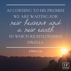 """2 Peter 3:1-13 