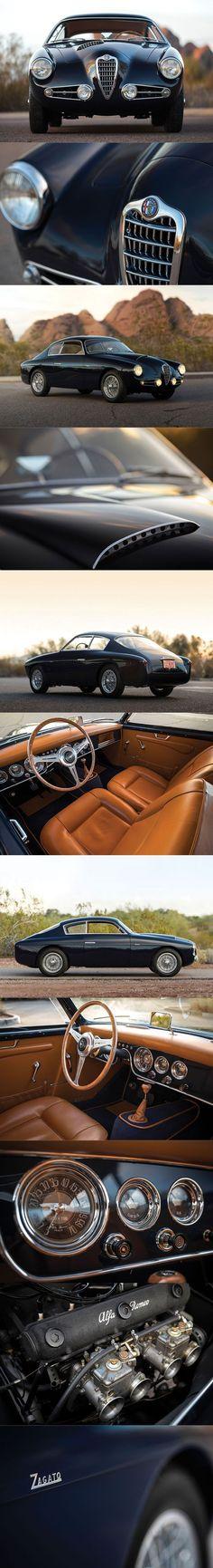 1955 Alfa Romeo 1900 C SS Berlinetta / Zagato / s/n 01909 / RM Sotheby's / Italy / black / 17-380 #automotive #autmomotivo #carror #carros #car #alfaromeozagato
