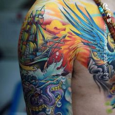 Awesome nautical tattoo TattooStage.com - Ratings and reviews for tattoo artists and studios. #tattoo #tattoos #ink