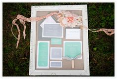 Cute way to frame your wedding invitations and program