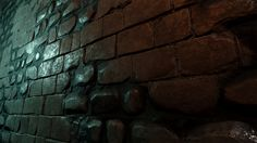 brick wall texture in Unreal 4, Martin Teichmann on ArtStation at https://www.artstation.com/artwork/brick-wall-texture-in-unreal-4