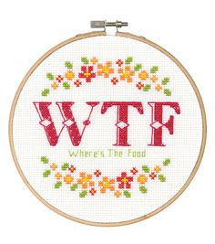 Say It! in cross stitch-WTF