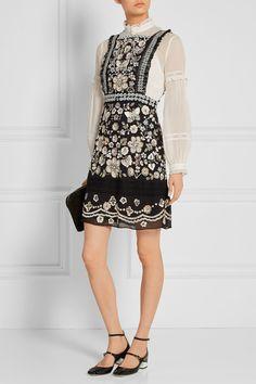 Needle & Thread   Embellished georgette mini dress   NET-A-PORTER.COM