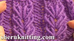 Wheat Ear Loop Stitch Pattern Tutorial 6 Free Knitting Stitch Patterns F...