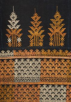 Detail of a costume from the Xa Pho people of Vietnam.  Kantha stitching