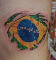 Brazil Flag Tattoo | brazilian flag