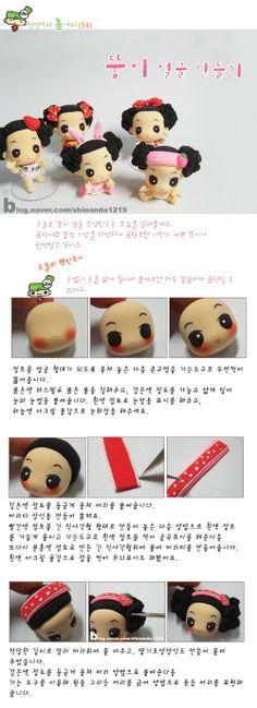 cute doll polymer clay tutorial