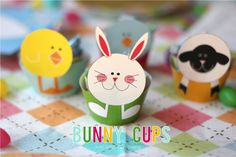 bunny cups for treats etc