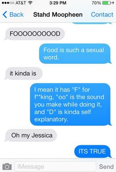 """Like how """"food"""" is actually a really sexual word…   27 Texts You'd Only Get From Your Best Friend"""