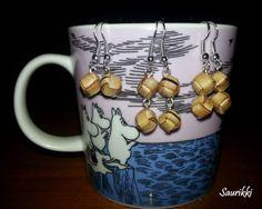 Birch bark pearl -earings Tuohihelmi -korvakorut
