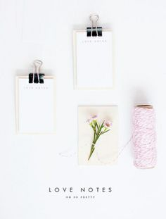 Printable Love Notes | Oh So Pretty