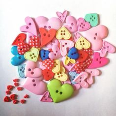 #02 Heart shaped buttons, assorted sizes and colours. Including some extra cute tiny tiny hearts. 32g.€1.30 + p&p.I'll combine postage on multiple items. Items as pictured. See 1st photo for sale rules. Comment below to buy or email, all payments via PayPal. Let me know yr country for accurate postage rate. #craft #craftsupplies #destash #craftdestash #sewing #forsale #buy #buycraftsupplies #buttons #hearts #heartbuttons Postage Rates, Tiny Tiny, Tiny Heart, Photos For Sale, Heart Shapes, Craft Supplies, Hearts, Buttons, Colours