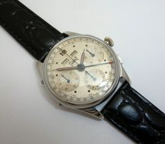 Vintage Watches Collection : Rare Bovet Valjoux Triple Calendar Chronograph Wrist Watch - Watches Topia - Watches: Best Lists, Trends & the Latest Styles Old Watches, Vintage Watches, Watches For Men, Watch Room, Gents Fashion, Stylish Mens Outfits, Beautiful Watches, Chronograph, Gents Style