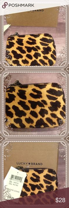 Animal Print Coin Purse New with gift box Lucky coin purse. Measures 4.5 by 4 and has 1 inside pocket. Makes a great gift for Mother's Day, birthday, or graduation. Lucky Brand Other