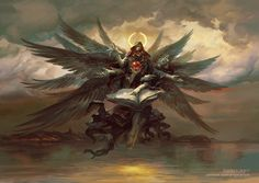 Azrael, Angel of Death, Peter Mohrbacher on ArtStation at https://www.artstation.com/artwork/azrael-angel-of-death