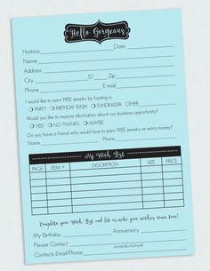 Direct Sales Survey Note pad – Penny Lacey
