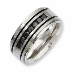 1/2 Carat tw Black Diamond Men's Ring