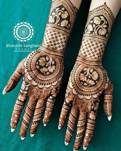 Mehndi is used for decorating hands of women during their marriage, Teej, Karva Chauth. Here are latest mehndi designs that are trending in the world. Engagement Mehndi Designs, Wedding Henna Designs, Latest Bridal Mehndi Designs, Henna Art Designs, Mehndi Designs For Girls, Mehndi Designs 2018, Mehndi Designs For Beginners, Modern Mehndi Designs, Dulhan Mehndi Designs