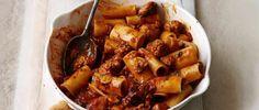 Pasta with smoky sausage ragu via /www.olivemagazine.com/