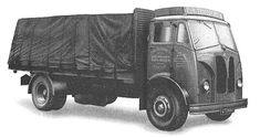 An Invincible 4-wheeled lorry capable of carrying a 14 ton payload.