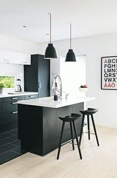 Via Bolig   Black and White   Kitchen   IKEA Poster   By Lassen