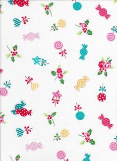 Lecien Flower Sugar Holiday 31328 10  - Candy Fabric - Christmas Fabric - Japanese