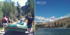 Summer Adventures! River rafting in northwestern Montana's flathead valley