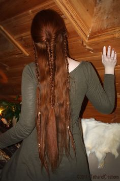 long hair Celtic Hair, Viking Hair, Viking Braids, Elf Hair, Renaissance Hairstyles, Medieval Hairstyles, Fancy Hairstyles, Braided Hairstyles, Historical Hairstyles