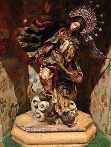 La Virgen de Quito, también conocida bajo los nombres de Virgen del Apocalipsis, Virgen alada, Virgen bailarina y Virgen de Legarda. Es una escultura de madera de 30cm de alto, obra del artista quiteño Bernardo de Legarda, que se ha convertido en la mayor representante de las piezas creadas en el marco de la escuela quiteña, que se desarrolló en la capital ecuatoriana durante la época colonial, y que adquirió gran prestigio mundial