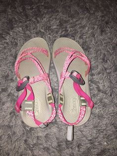9255274cec54 (eBay link) Kids Chaco Sandals Size 6 Pink And Grey  fashion  clothing