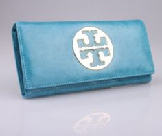 Tory Burch Superior Leather Fold Wallet Blue [TB079] - $65.00 : Designer Shoes & Flats, Handbags & Accessories | Tory Burch  $65.00