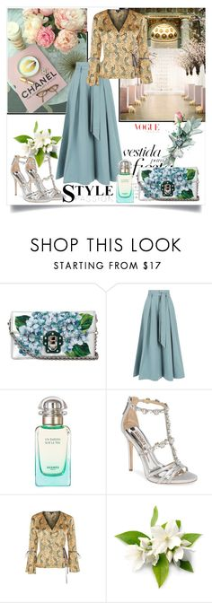 """""""Untitled #1279"""" by misaflowers ❤ liked on Polyvore featuring Dolce&Gabbana, Temperley London, John Lewis, Badgley Mischka and Topshop"""