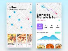 Had some free time over the holidays and was experimenting with this type of mobile interface for finding restaurants. Let me know what you think, if you like the concept I can pursue it further an. Ios App Design, Mobile App Design, Ui Design, Mobile Ui, Profile App, App Ui, Ui Ux, Restaurant App