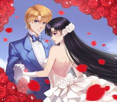 Bishoujo Senshi Sailor Moon, Jadeite, Hino Rei, Rose Petals, White Handwear