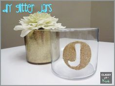 DIY Glitter Jars from Empty Candle Jars
