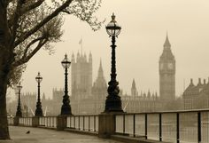 Big Ben And Houses Of Parliament, London In Fog Posters at AllPosters.com
