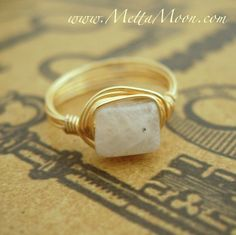 MettaMoon Moonstone Gold Love Ring NOW ON SALE! 20% OFF ALL RINGS!!! www. METTAMOON.com