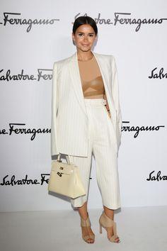 Miroslava Duma at Salvatore Ferragamo fw fashion show l February, 2014